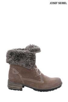 Josef Seibel Cream Sandra Faux Fur Lined Ankle Boots