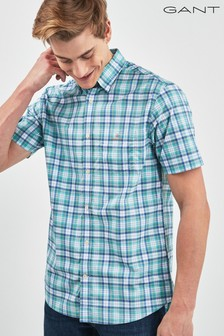 GANT Broadcloth Check Regular Short Sleeved Shirt