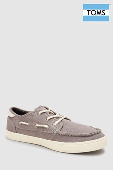 TOMS Grey Boat Shoe