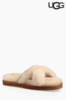 UGG® Abela Natural Cross Over Slipper