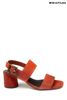 Whistles Rust Avery Two Part Tort Buckle Sandal