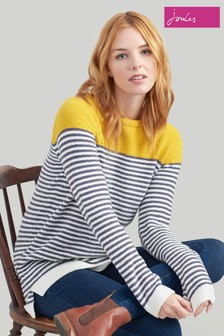 Pull en maille chenille Joules Seaham gris