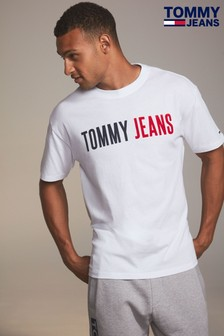 Tommy Jeans White Branded Tee