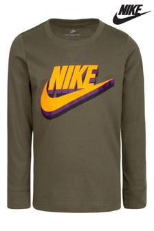 Nike Little Kids Long Sleeve Futura T-Shirt