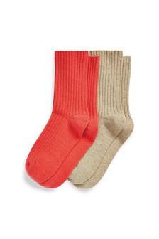Cashmere Touch Socks Two Pack