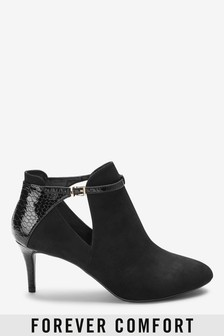 Forever Comfort® Open Side Mid Heeled Shoe Boots
