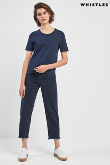 Whistles Dark Rinse Barrel Jean