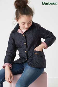 Barbour® Girls Liddesdale Navy Quilted Jacket