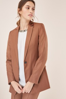 Relaxed Single Breasted Jacket