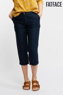 FatFace Baird Mcnutt Linen Crop Trouser