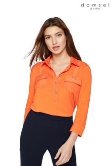 Damsel In A Dress Orange Marni Trench Jersey Top