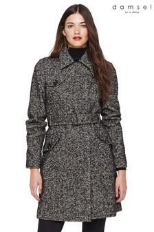 Damsel In A Dress Grey Anna Tweed Belted Coat