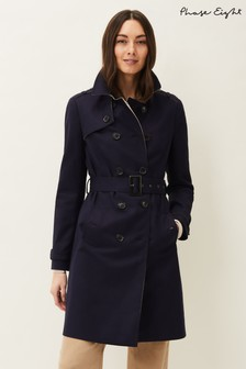 Phase Eight Blue Tabatha Trench Coat