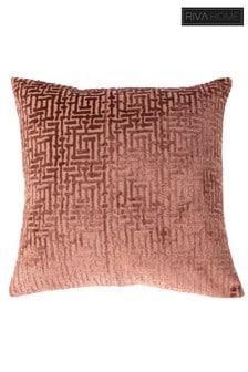 Delphi Velvet Jacquard Cushion by Riva Home