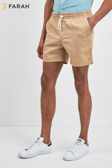 Farah Brown Val Short Stretch Shorts