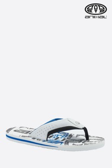 Animal White Jekyl Logo Flip Flop