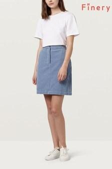 Finery Moody Sky Blue Selma Cord Pencil Skirt