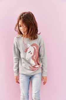 Unicorn Sequin Jumper (3-16yrs)