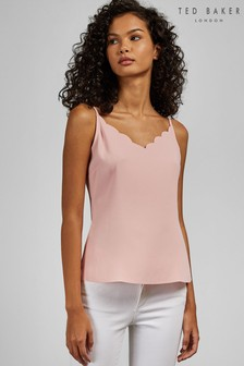 Ted Baker Pink Siina Scallop Neckline Cami Top