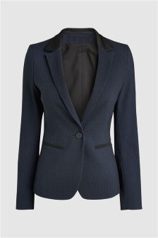 Jacquard Slim Suit Jacket
