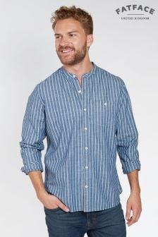 FatFace Indigo Cullen Stripe Grandad Shirt
