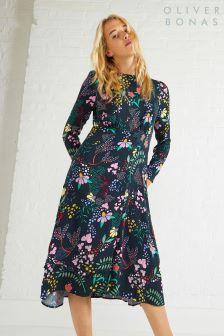 Oliver Bonas Multi Fairytale Floral Print Dress