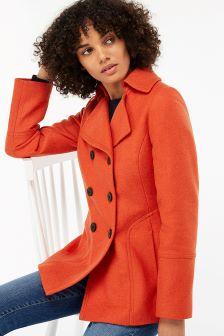 Monsoon Orange Pippa Pea Coat