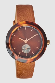 Tortoiseshell Effect Case Watch