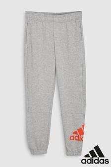 adidas Grey Leg Logo Jogger