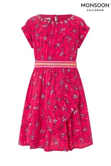 Monsoon Red Beverley Ballerina Dress