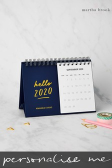 Personalised Hello 2020 Calendar by Martha Brook