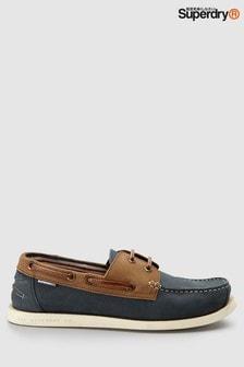 Коричневые кожаные туфли Superdry