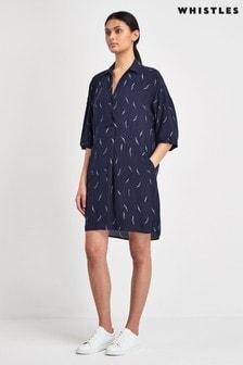Whistles Navy Print Lola Dress