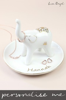 Personalised Elephant Trinket Dish by Lisa Angel