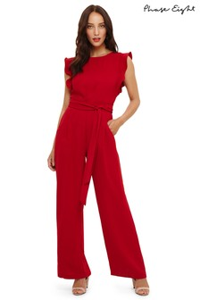 Phase Eight Red Scarlet Victoriana Jumpsuit