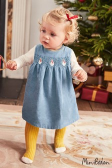 Boden Blue Festive Party Dress