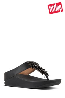FitFlop™ Black Rumba Toe Post Sandal