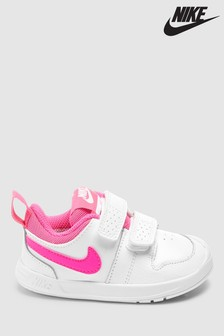 Nike White/Pink Pico Infant Trainers