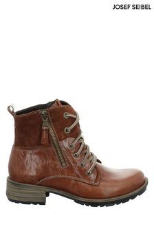 Josef Seibel Brown Sandra Biker-Style Combat Boots