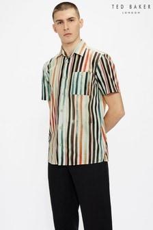 Ted Baker Actres Short Sleeve Print Stripe Shirt