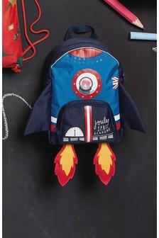 Rucsac căptușit cu inserții de plasă Cath Kidston Bears In Space albastru