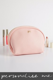 Personalised Pink Cosmetic Bag