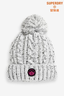 Superdry Grey Cable Beanie