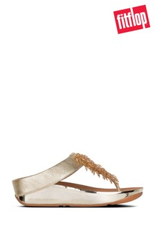 FitFlop Rumba™ Toe Post Sandals In Metallic Gold