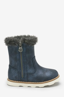 Charm Zip Boots (Younger)
