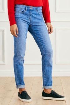 Комфортные зауженные джинсы