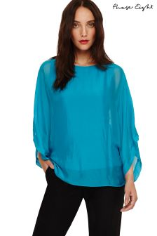 Phase Eight Turquoise Fabia Silk Blouse
