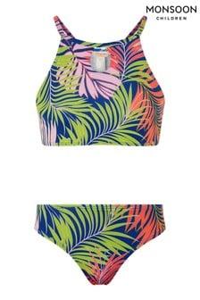 Monsoon Blue Storm Palm Print Bikini