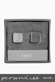 Personalised Mens Square Cufflinks