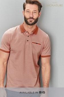 Фирменная жаккардовая рубашка поло